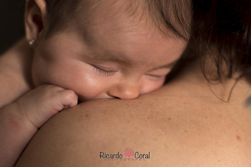 Fotografia de un bebe con 3 meses