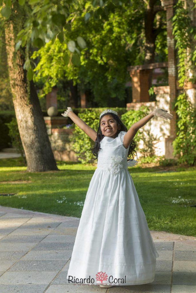 Comunión en el parque del Retiro de Madrid