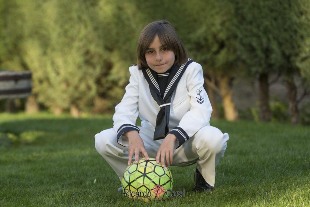 Primera comunión de un gran futbolista