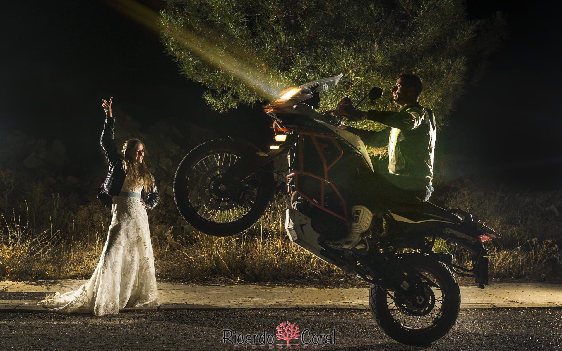 Fotografia de boda motera y espectacular