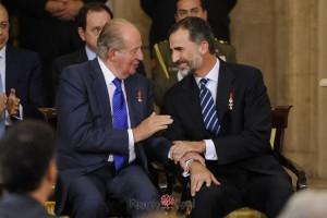 Rey Juan Carlos I y Rey Felipe VI