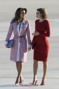 Reina Rania de Jordania y Reina Letizia